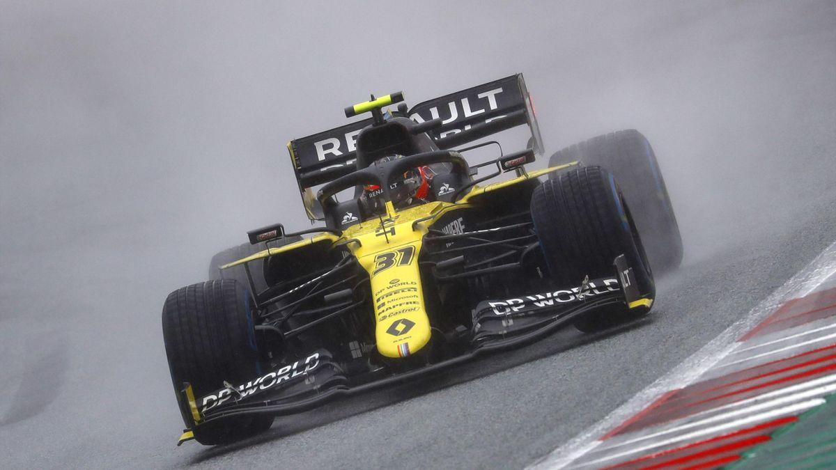 Esteban Ocon (Renault) lors de la qualification du Grand Prix de Styrie 2020