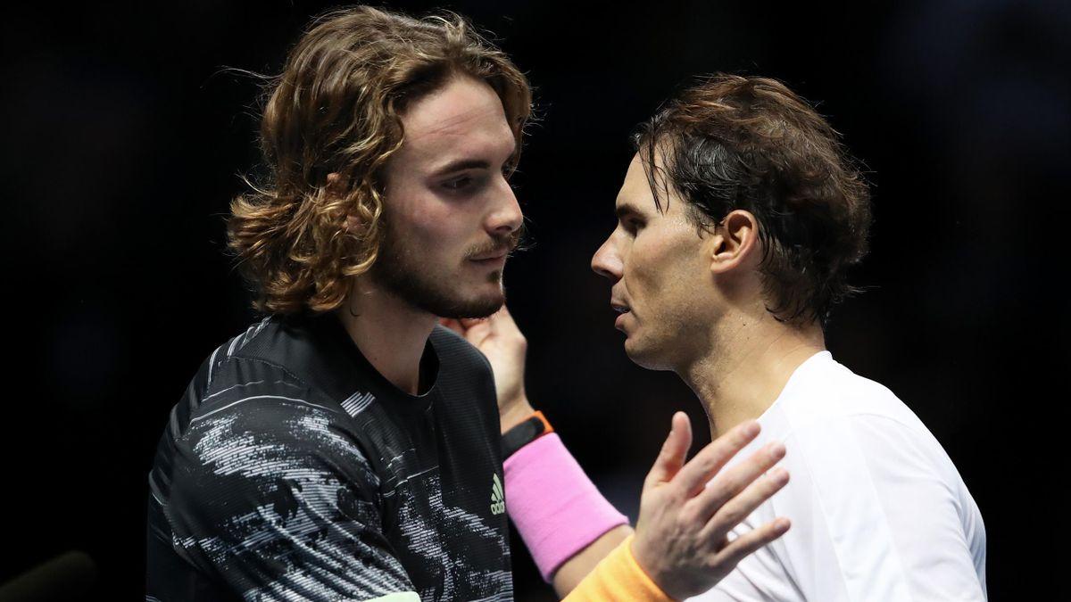 Stefanos Tsitsipas and Rafael Nadal