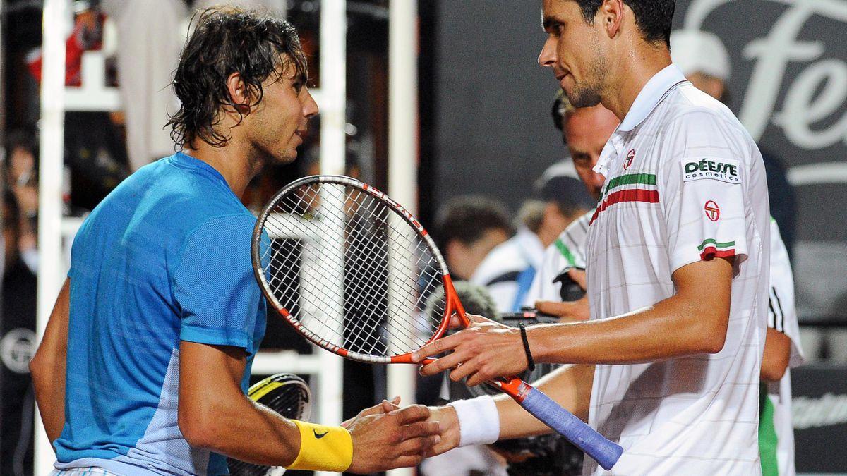 Nadal şi Hănescu, la Roma, în 2010