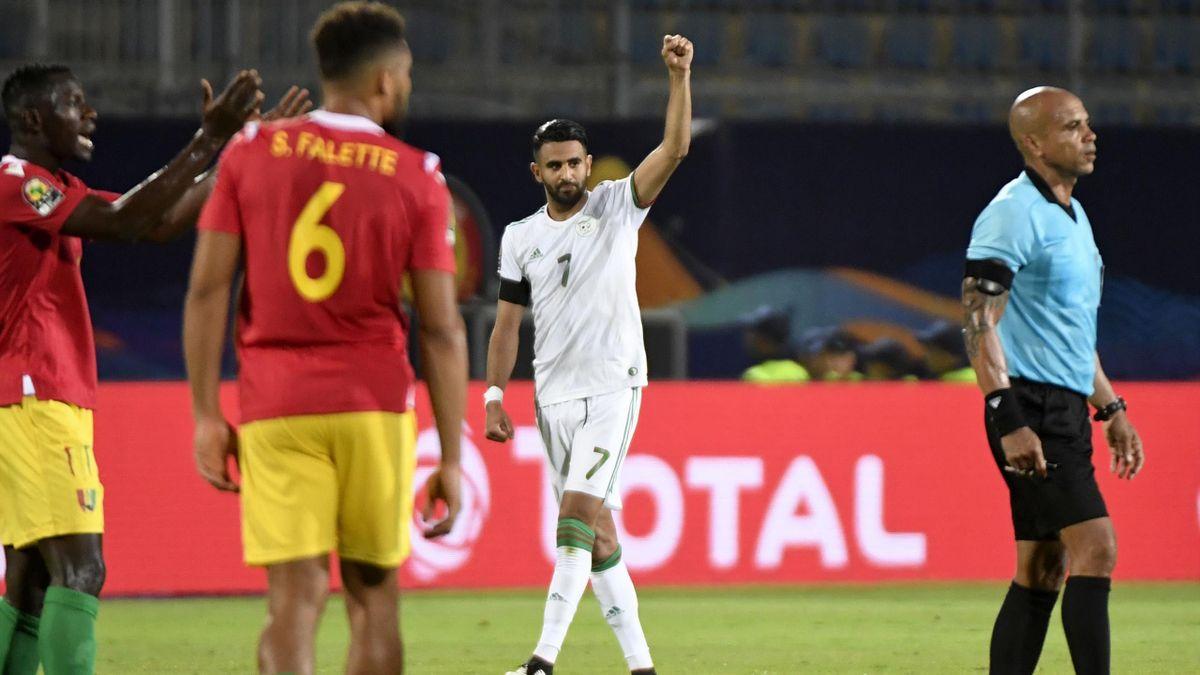 Riyad Mahrez celebrates