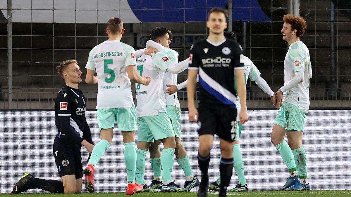 Bremen jubelt gegen Bielefeld