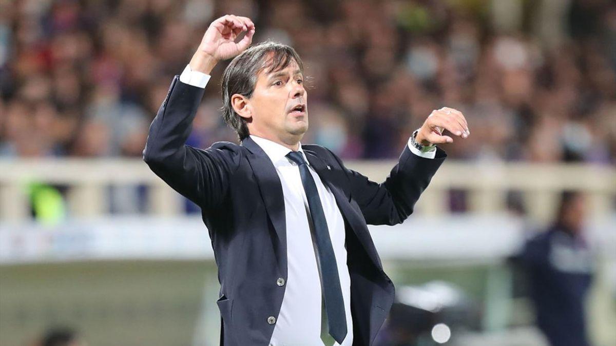 Simone Inzaghi durante Fiorentina-Inter - Serie A 2021-22