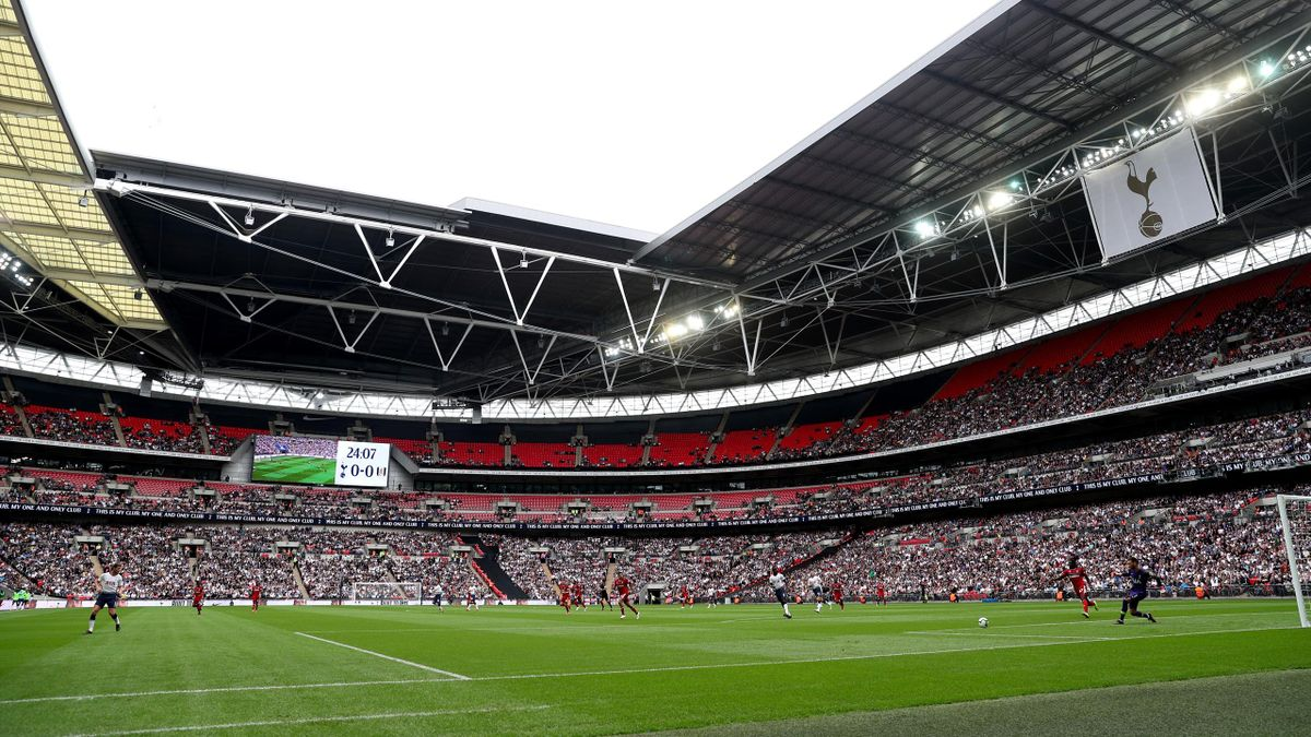 General view inside the stadium during the Premier League match between Tottenham Hotspur and Fulham FC