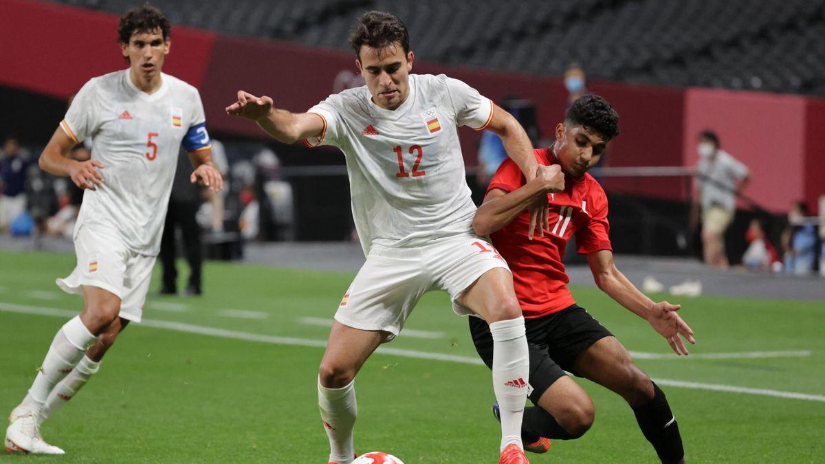 Èric García, en el Egipto-España de los Juegos Olímpicos de Tokio 2020