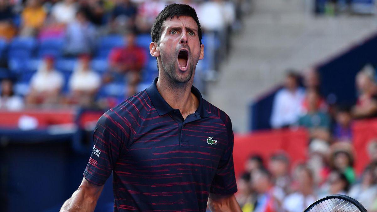 Novak Djokovic à Tokyo en 2019