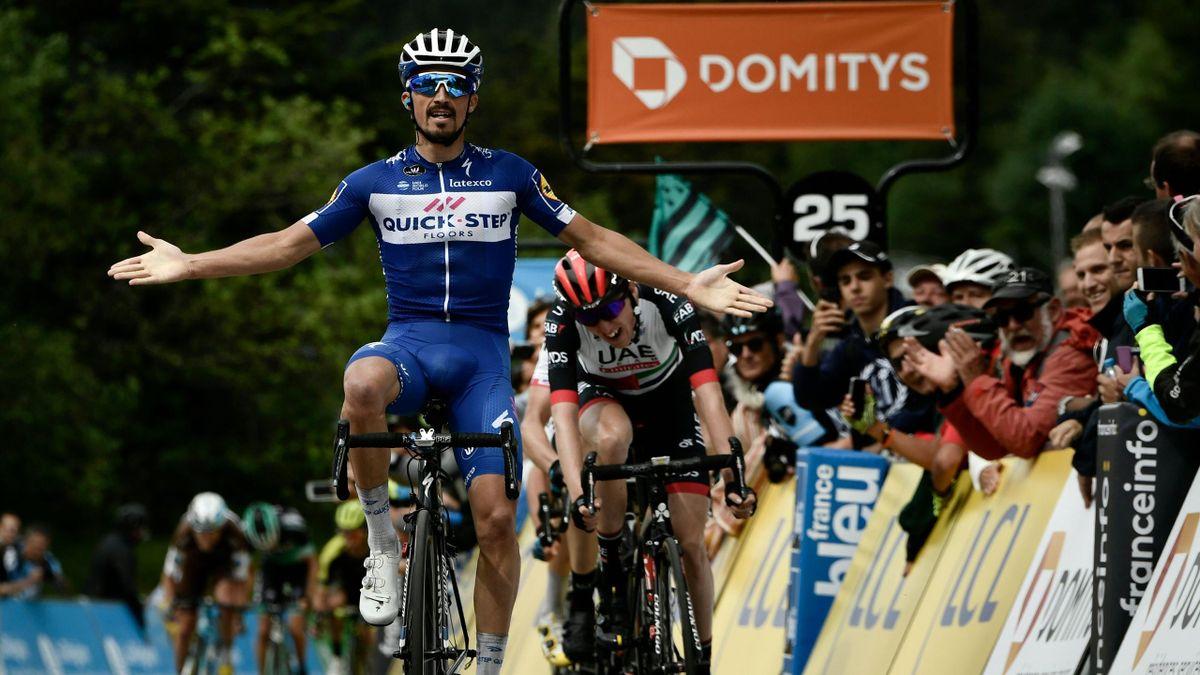 Julian Alaphilippe vainqueur de la 4e étape du Dauphiné