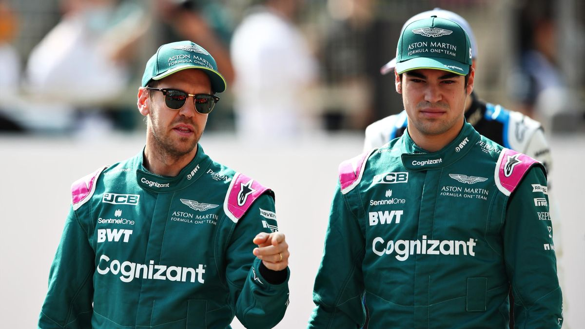 Sebastian Vettel (links) und Lance Stroll - Aston Martin