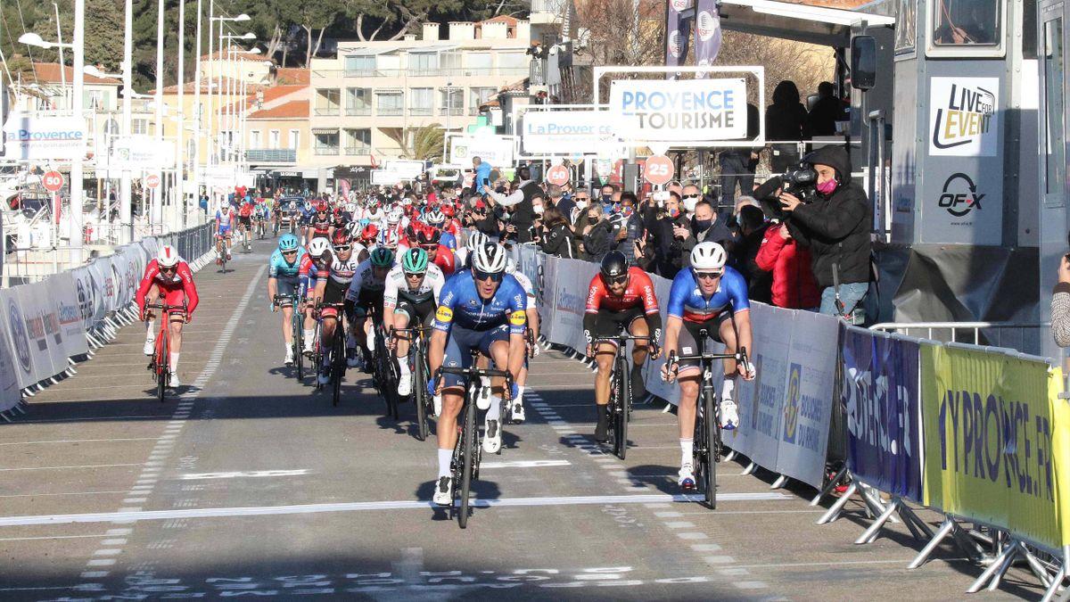 Davide Ballerini, Arnaud Démare - Tour de la Provence 2021, stage 1 - Imago pub not in FRAxNED