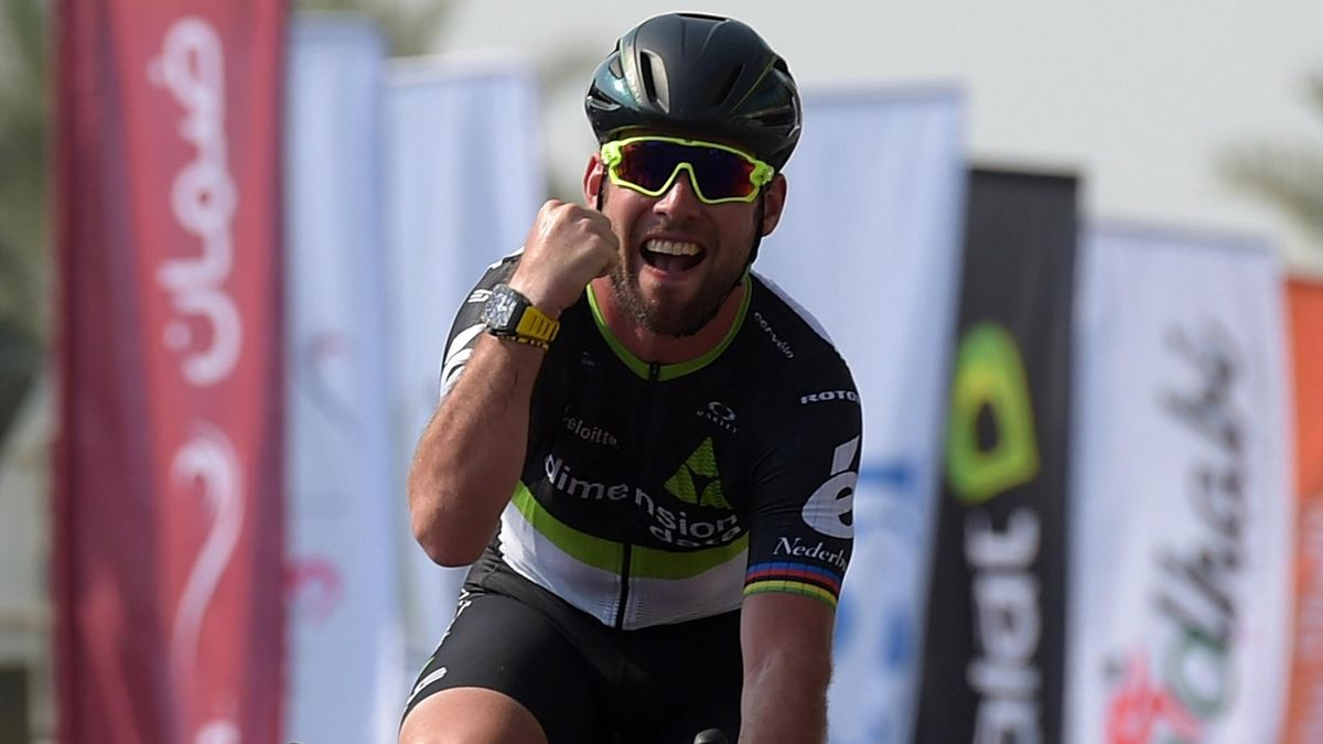 Mark Cavendish in action.