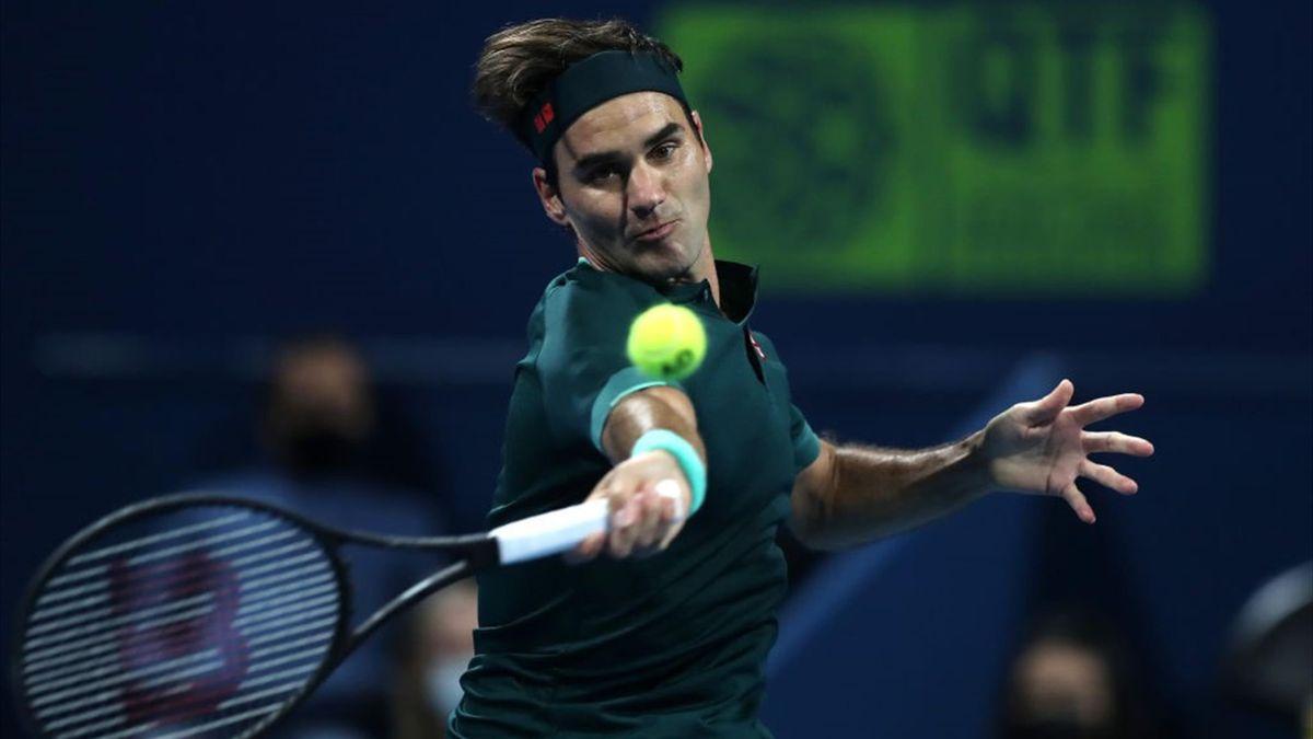 Roger Federer beim ATP-Turnier in Doha
