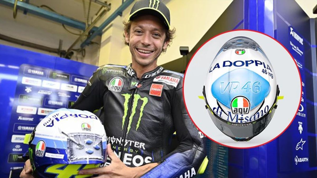 """Valentino Rossi chiede """"l'aiutino"""" al Viagra: ecco il casco per Misano"""