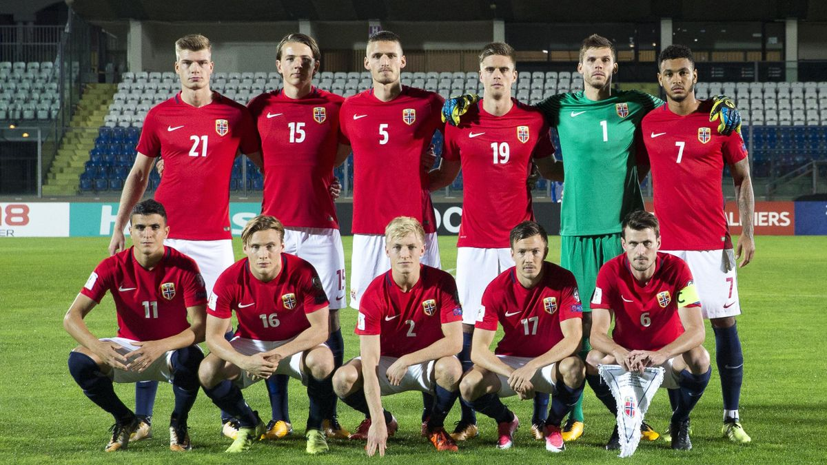 San Marino tar imot Norge på hjemmebane torsdag kveld. Lagbilde.