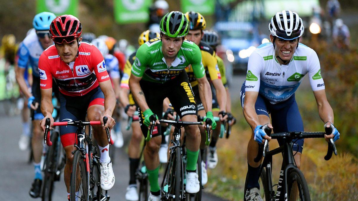 Carapaz, Roglic și Mas, în Vuelta 2020
