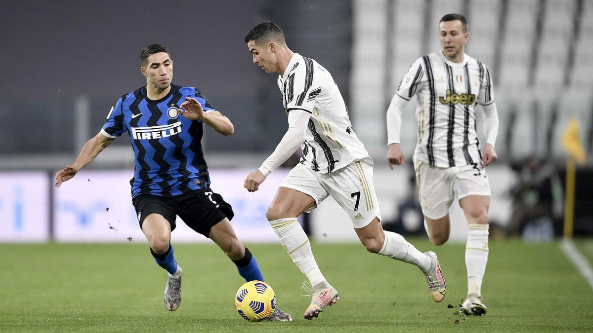Cristiano Ronaldo, Hakimi - Juventus-Inter - Coppa Italia 2020/2021 - Getty Images