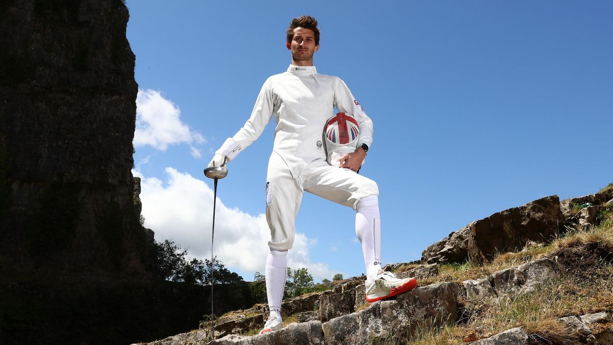 Jamie Cooke of Team GB, Modern Pentathlon 2018 World Champion and 2019 European Champion poses for a portrait on June 05, 2020 in Cheddar Gorge, England