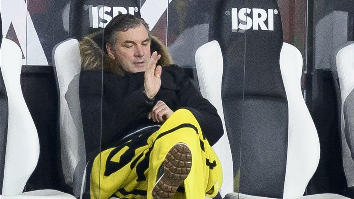 BVB-Sportdirektor Michael Zorc nach der Niederlage bei Borussia Mönchengladbach