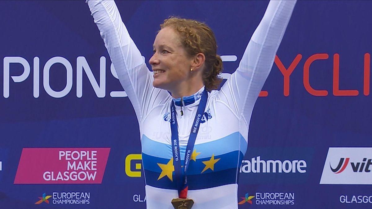European Championship : podium 10km Scratch Race Women