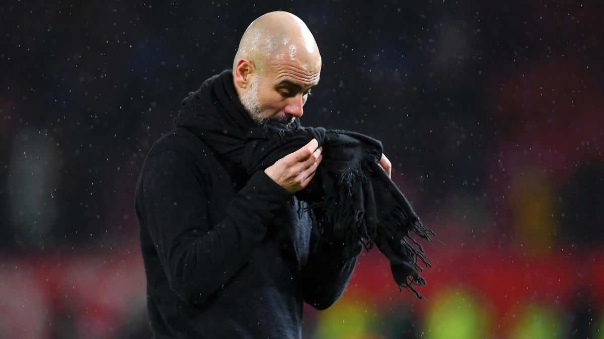Pep Guardiola after Manchester United beat Manchester City 2-1 in the Premier League at Old Trafford