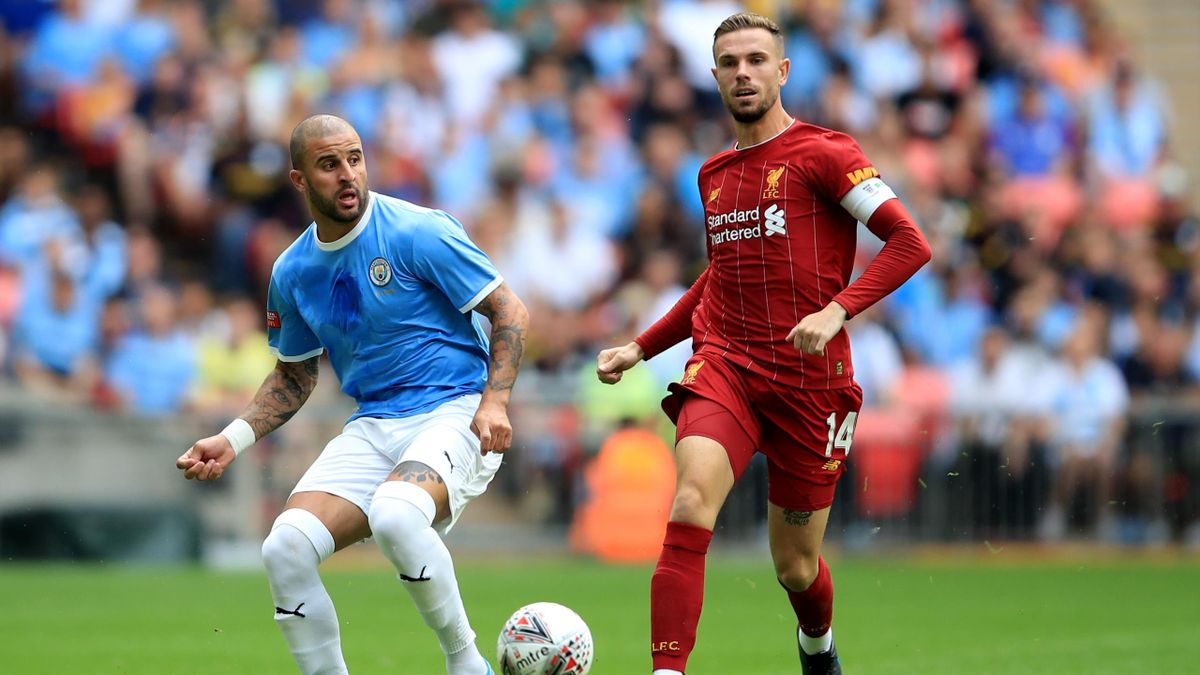 Kyle Walker and Jordan Henderson - Liverpool-Manchester City Community Shield 2019