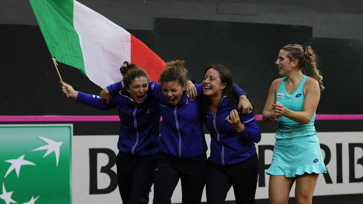 Errani, Paolini, Cocciaretto e Chiesa - Italia - Fed Cup 2018
