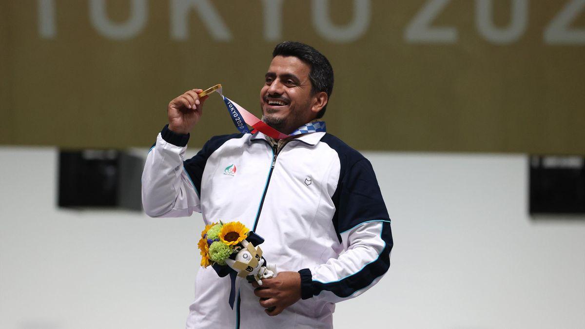 Gold Medalist Javad Foroughi of Team Iran