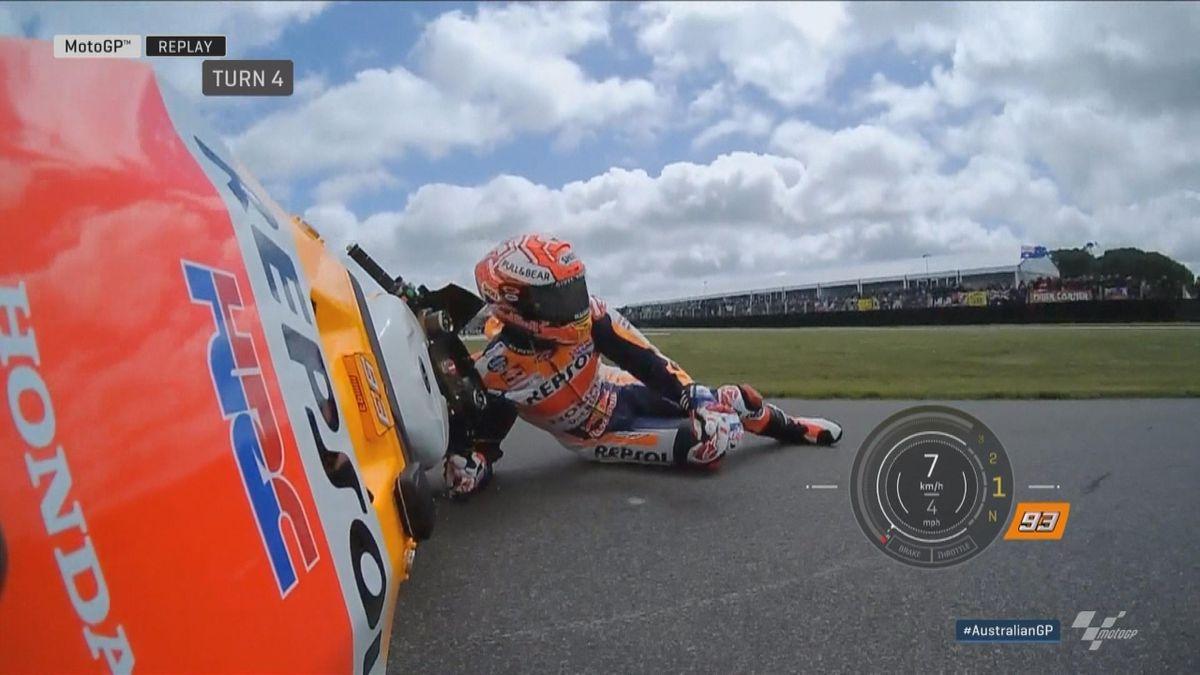 Australian GP - Moto GP FP3 - Crash Marquez