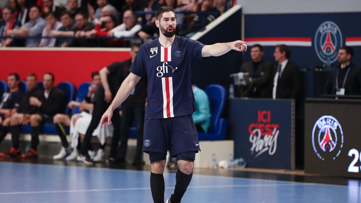 Nikola Karabatic lors d'un match opposant le PSG à Nîmes, le 5 mars 2020