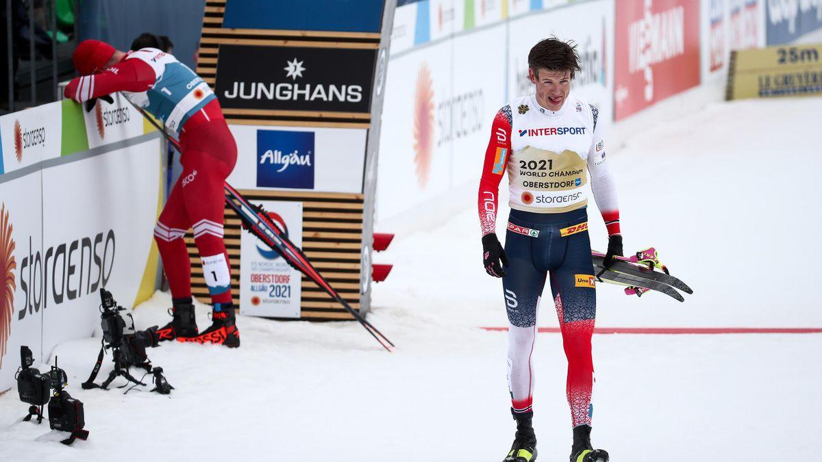 Йоханнес Клебо (Норвегия), Александр Большунов (Россия), марафон на ЧМ-2021