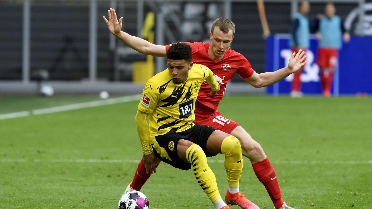 Jadon Sancho lors de Borussia Dortmund - RB Leipzig lors de la 32e journée de Bundesliga