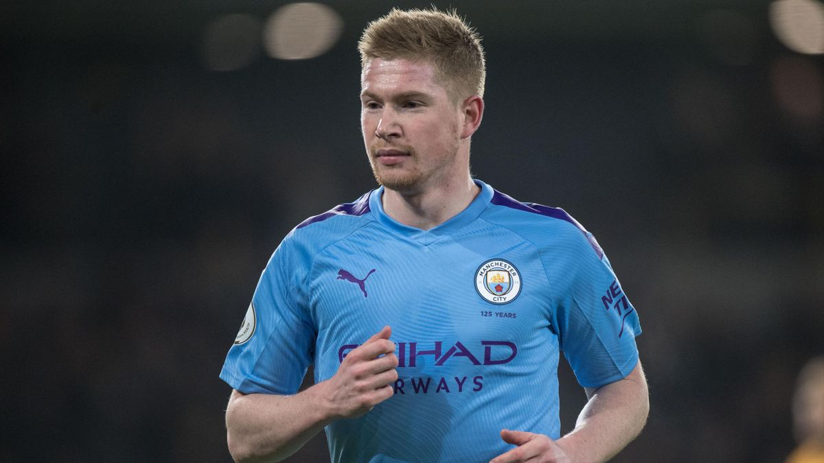 Kevin De Bruyne of Manchester City during the Premier League match between Wolverhampton Wanderers and Manchester City at Molineux on December 27, 2019