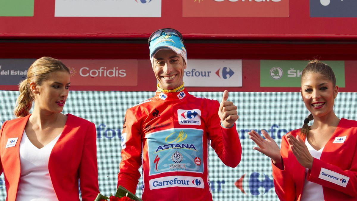 Fabio Aru (Astana) a pris le maillot rouge de la Vuelta 2015 après la 11e étape