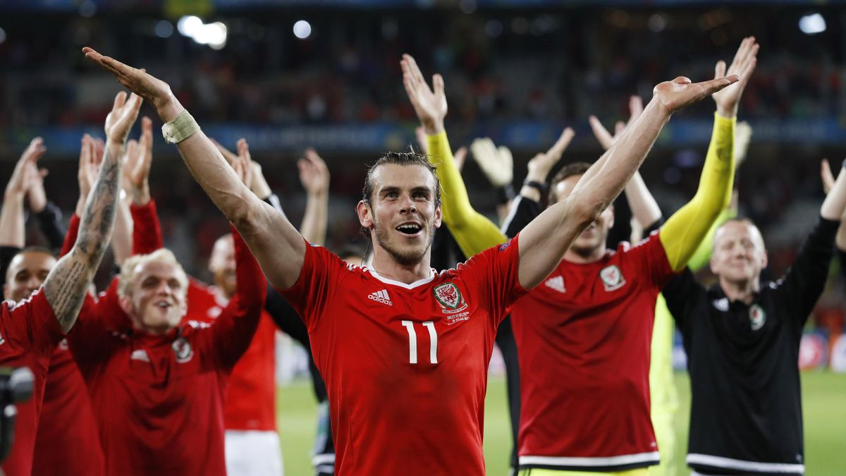 Gareth Bale leads the Welsh celebrations