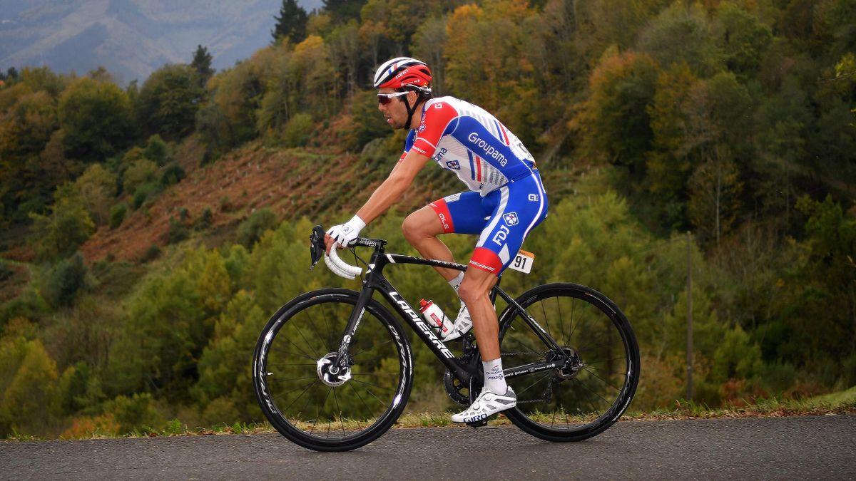 Thibaut Pinot lors de la première étape de la Vuelta