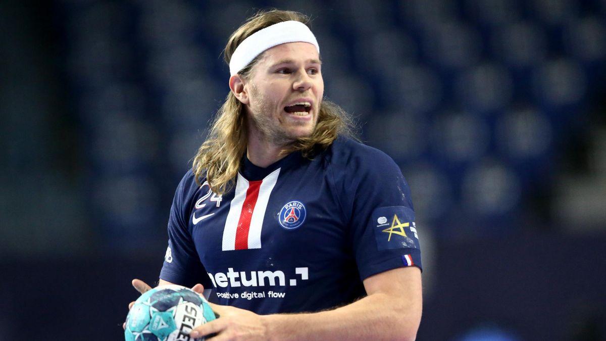 Mikkel Hansen lors du match opposant le PSG à Veszprem, lors du Final Four de la Ligue des champions, le 29 décembre 2020