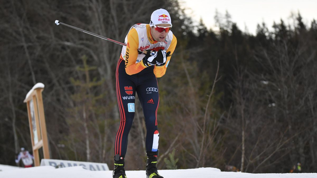 Vinzenz Geiger lief in Val di Fiemme noch von Platz zehn aufs Podest