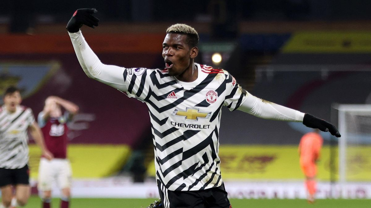 Paul Pogba celebrates scoring for Manchester United