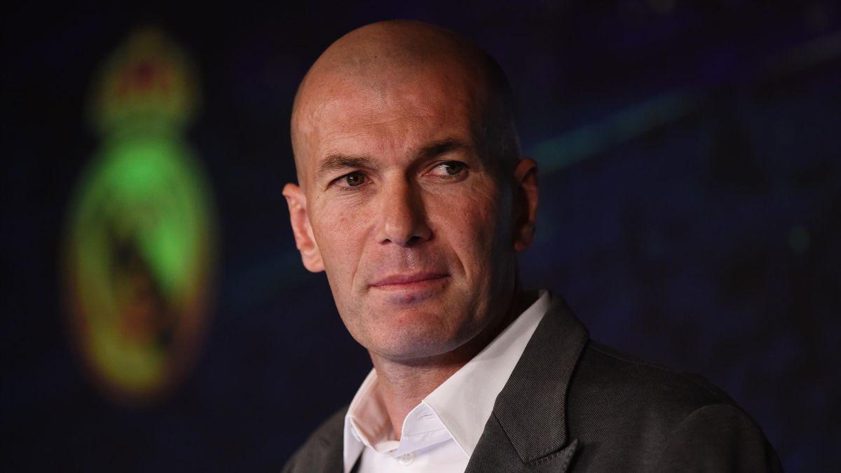 Zinedine Zidane le 11 mars