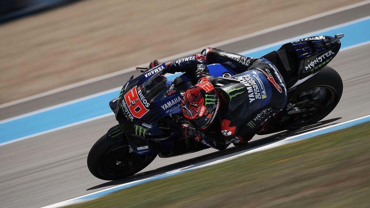 Fabio Quartararo (Yamaha Factory) lors de la qualification du Grand Prix d'Espagne, le 1er mai 2021, à Jérez
