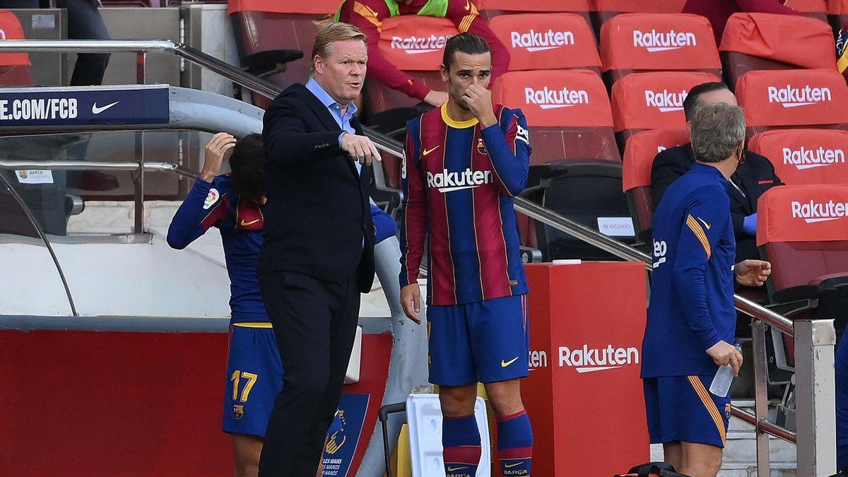 Ronald Koeman mit Antoine Griezmann (FC Barcelona vs. Real Madrid)
