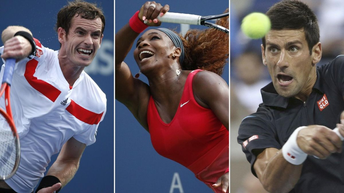 Andy Murray, Serena Williams, Novak Djokovic