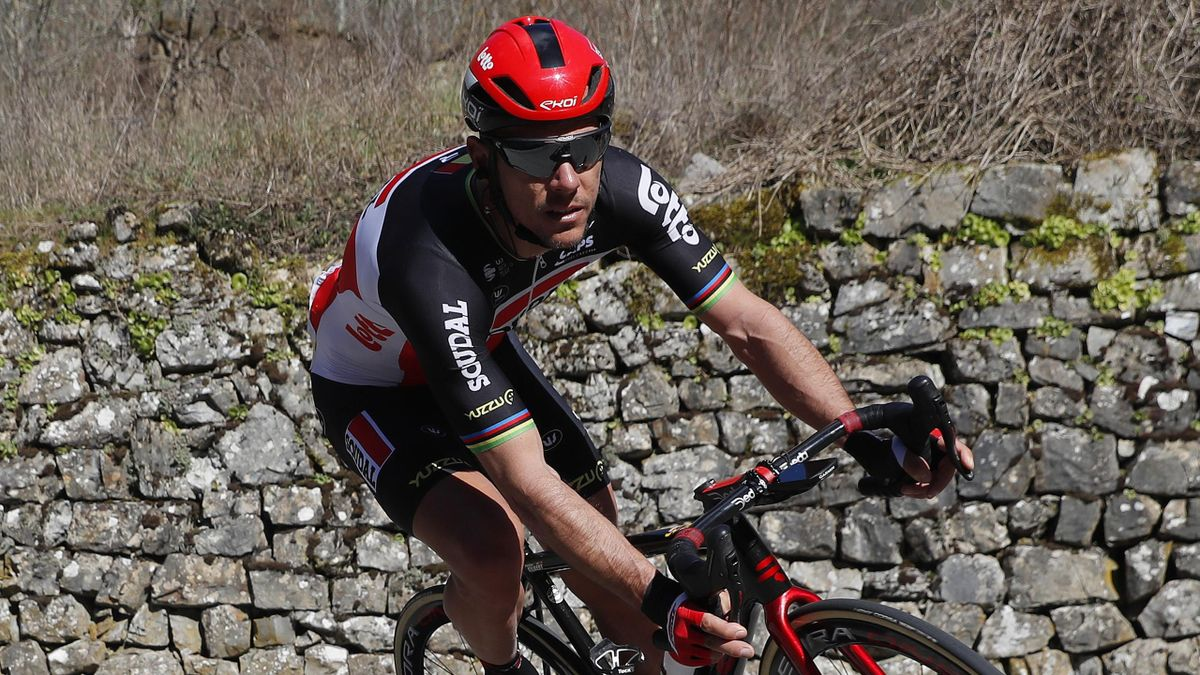 Philippe Gilbert lors de Paris-Nice en 2021.