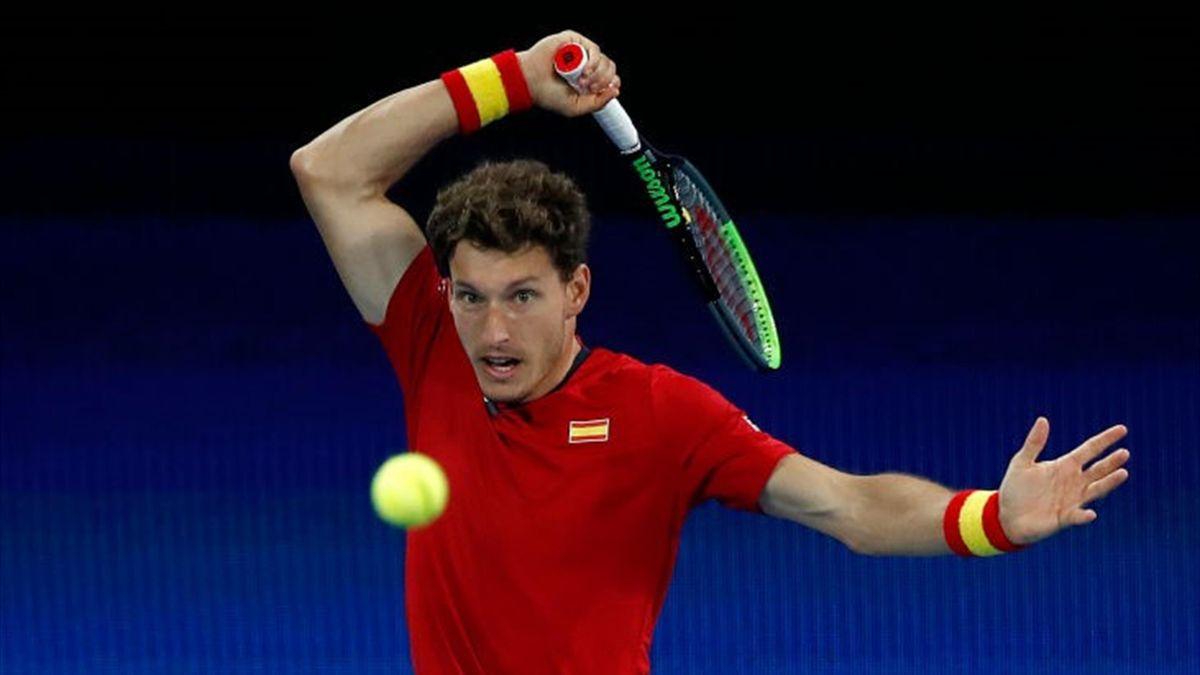 PabloCarreno Busta lors de l'ATP Cup 2021 à Melbourne