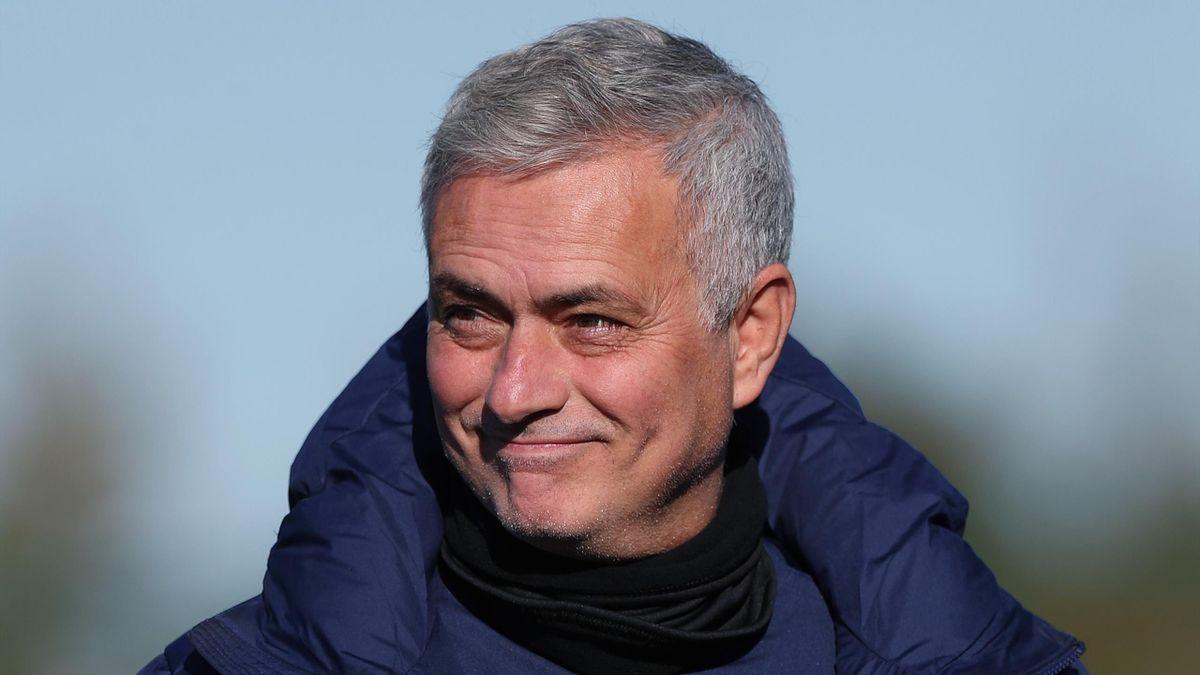 Jose Mourinho, Head Coach of Tottenham Hotspur during the Tottenham Hotspur training session ahead of the UEFA Europa League Group J stage match between Tottenham Hotspur and PFC Ludogorets