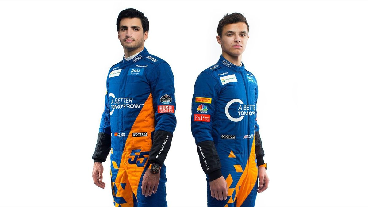 Carlos Sainz and Lando Norris, new McLaren driver