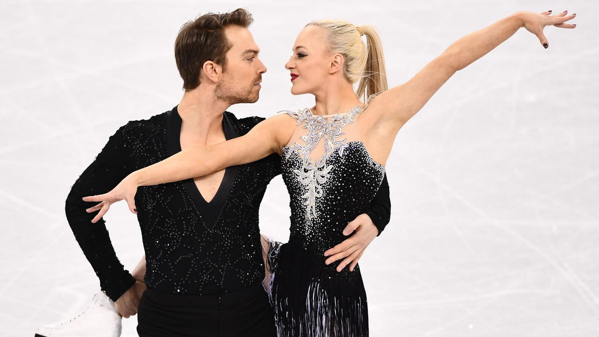 Britain's Penny Coomes and Britain's Nicholas Buckland compete in the ice dance short dance of the figure skating event during the Pyeongchang 2018 Winter Olympic Games at the Gangneung Ice Arena in Gangneung on February 19