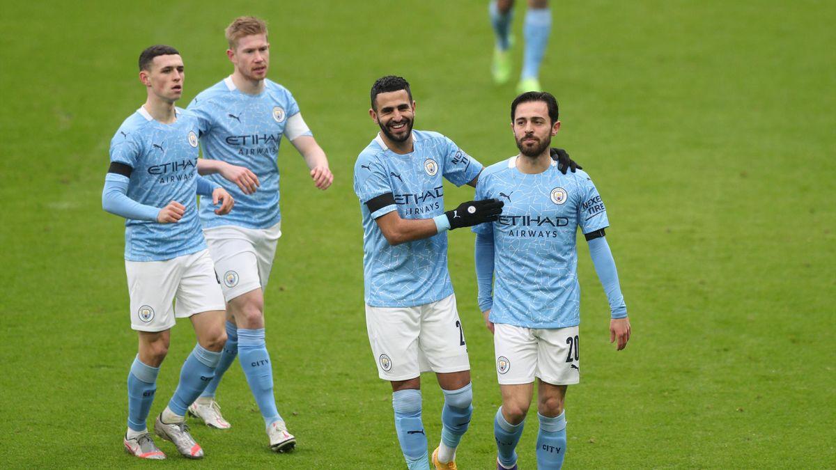 Riyad Mahrez et Bernardo Silva (Manchester City)