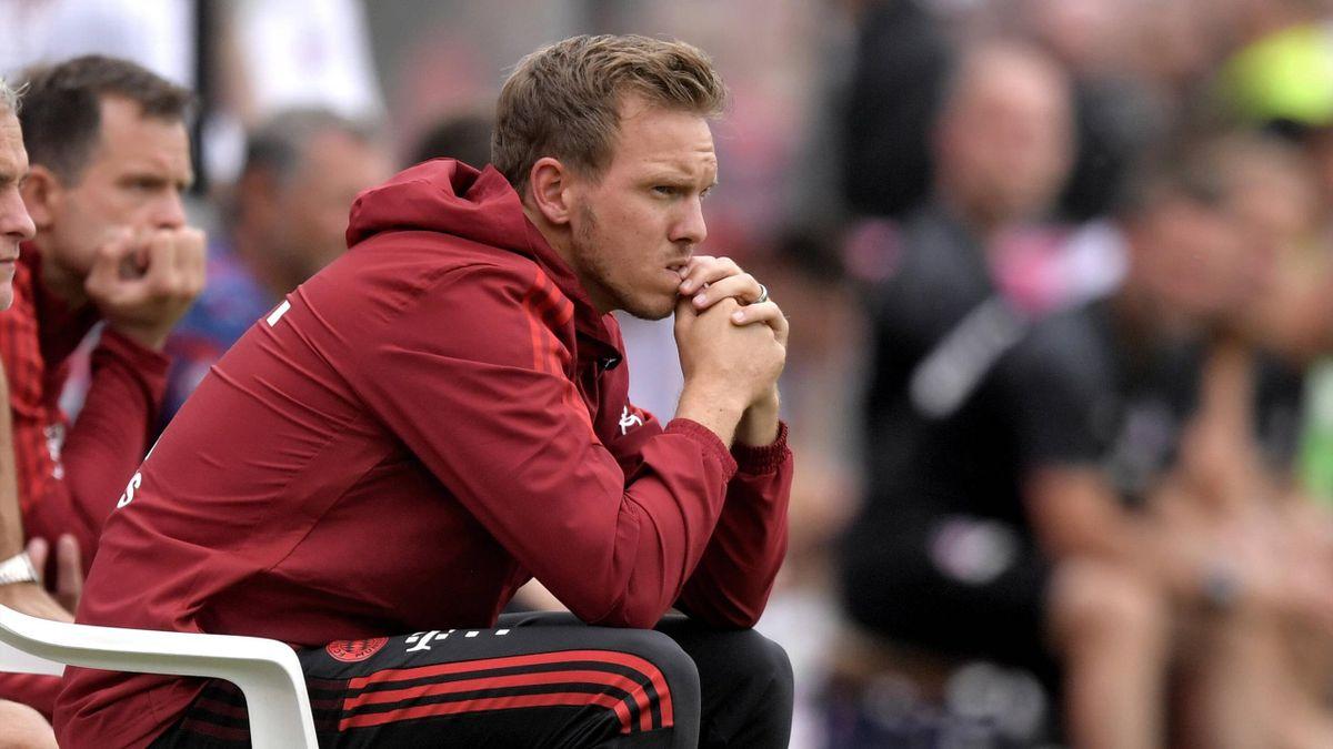 Julian Nagelsmann bei seinem Debüt als Bayern-Trainer
