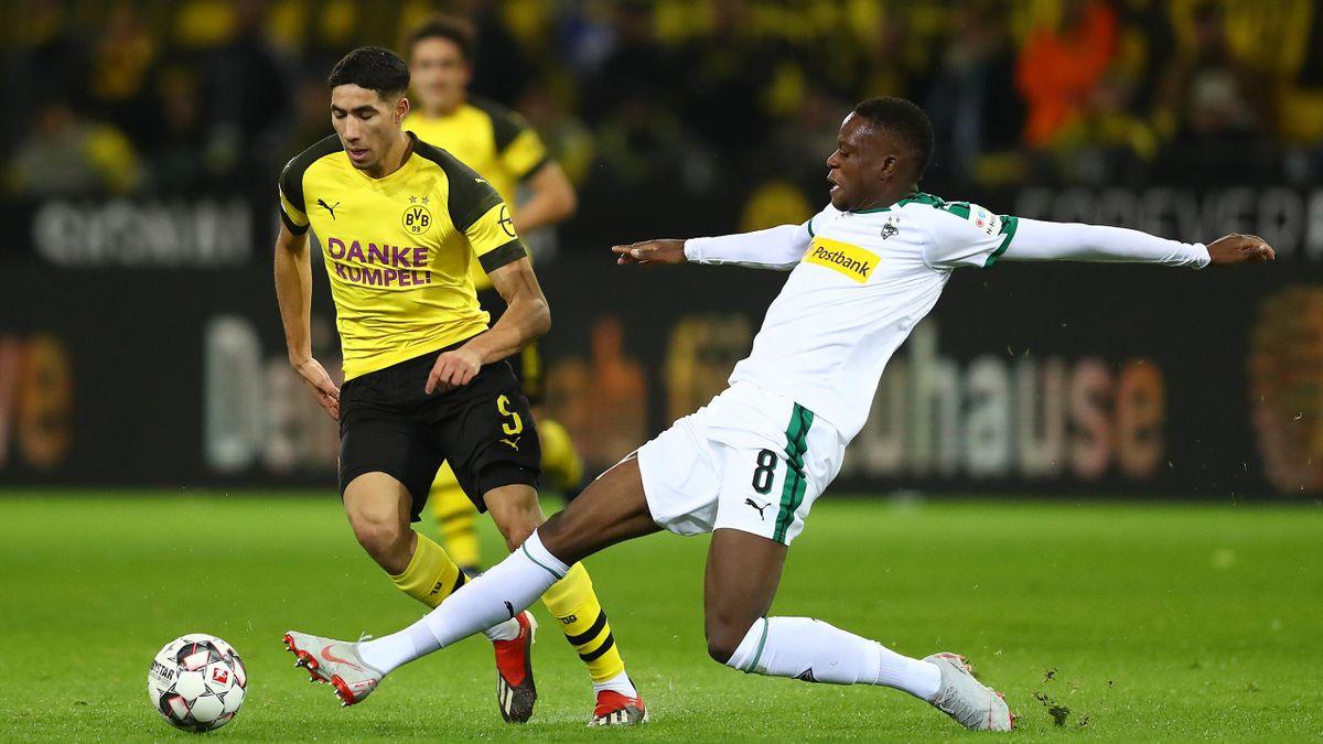 Borussia Dortmund - Borussia Mönchengladbach (Achraf Hakimi, Denis Zakaria)