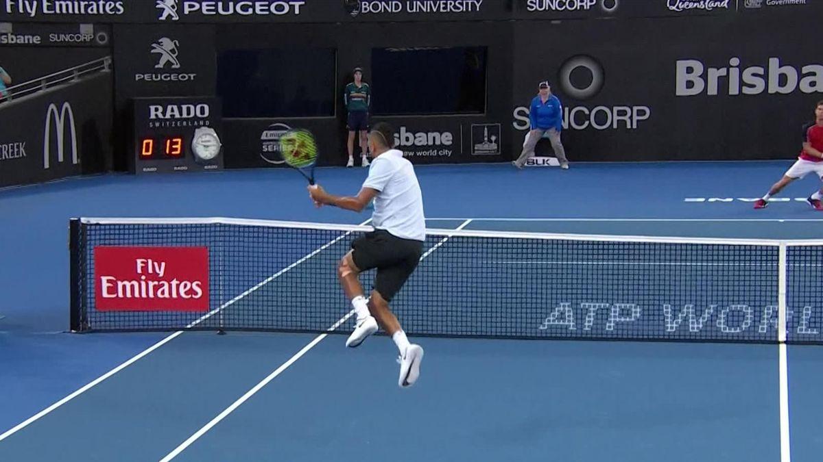ATP Brisbane : Sweet finish by Kyrgios