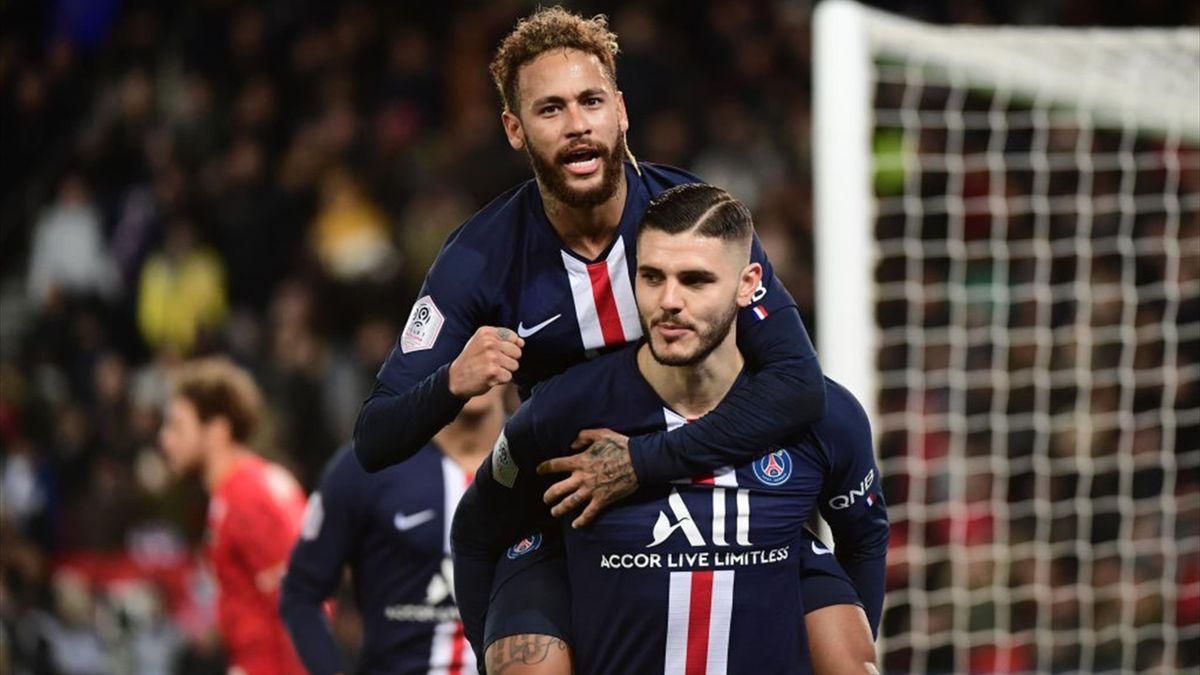 Icardi, Neymar - PSG-Amiens - Ligue 2019/2020 - Getty Images